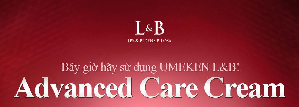 Bây giờ hãy sử dụng UMEKEN L&B! Advanced Care Cream